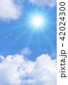 青空 太陽 空の写真 42024300
