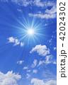 青空 太陽 空の写真 42024302