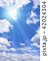 青空 太陽 空の写真 42024304