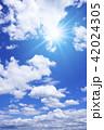 青空 太陽 空の写真 42024305