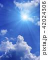 青空 太陽 空の写真 42024306