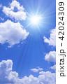 青空 太陽 空の写真 42024309
