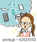 仕事に関することを想像する事務服の女性 42024332