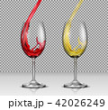 ワイン ガラス ガラス製のイラスト 42026249