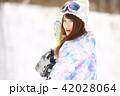 スノーボード スノボー 女性の写真 42028064
