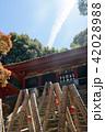 久能山東照宮と飛行機雲 42028988