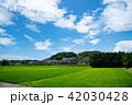 風景 青空 田んぼの写真 42030428
