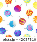 Realistic Detailed 3d Lollipops Candy Seamless Pattern Background. Vector 42037310