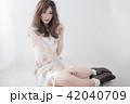 ヘアスタイル 女性 女の子の写真 42040709