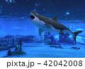 サメ シャーク 鮫のイラスト 42042008