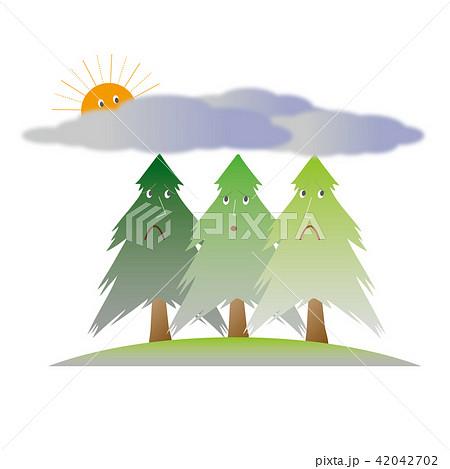 大気汚染と木々のイラスト2のイラスト素材 42042702 Pixta