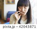 女性 カフェ ランチの写真 42043871