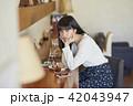女性 カフェ ランチの写真 42043947