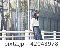 女性 春 散歩の写真 42043978