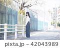 女性 春 散歩の写真 42043989