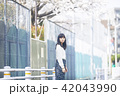 女性 春 散歩の写真 42043990
