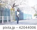 女性 春 散歩の写真 42044006
