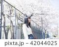 女性 春 散歩の写真 42044025