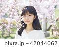 ポートレート 女性 桜の写真 42044062