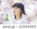 女性 桜 春の写真 42044063