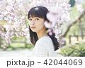 ポートレート 女性 桜の写真 42044069