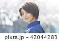 女性 散歩 旅行の写真 42044283