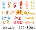 秋 はんこ 筆文字のイラスト 42045001