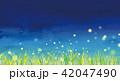 背景素材 草原 蛍 42047490