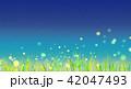 背景素材 草原 蛍 42047493