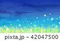 草原 夏 夜空のイラスト 42047500