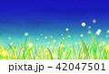 草原 夏 夜空のイラスト 42047501