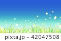 背景素材 草原 蛍 42047508