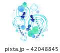 金魚 魚 波紋のイラスト 42048845