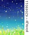 背景素材 草原 蛍 42049011
