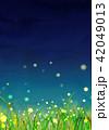 背景素材 草原 蛍 42049013
