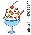 カキ氷 食べ物 デザートのイラスト 42049300