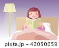 読書 女性 本のイラスト 42050659