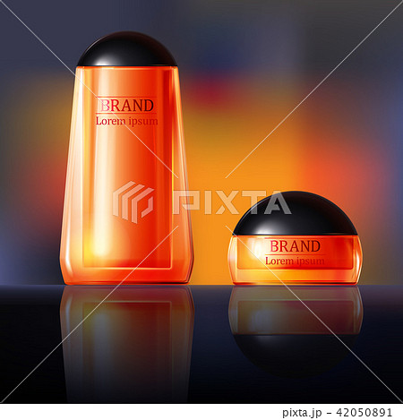 3D illustration poster with anti-aging cosmetic premium products for face, body or hands 42050891