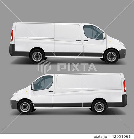 White commercial cargo minivan template  42051061