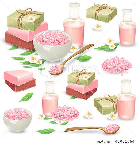 Natural handmade cosmetics for spa set 42051064