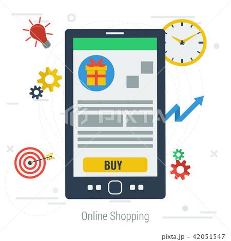 Vector concept mobile online shopping 42051547