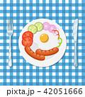 ブレックファースト 朝ごはん 朝食のイラスト 42051666
