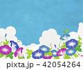 夏空 入道雲 アサガオ(和紙の風合い) 42054264