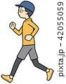 ジョギング ランニング 走るのイラスト 42055059