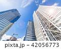 青空 高層ビル 夏の写真 42056773
