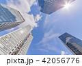 青空 高層ビル ビル群の写真 42056776
