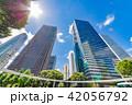 新緑 夏 ビル群の写真 42056792