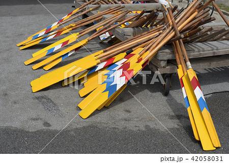 ハーリー競争に使われるエーク 海神祭 サバニ 爬龍船 42058031