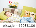 昼寝 寝ている 寝てるの写真 42058180