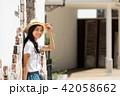 女性 旅行 若いの写真 42058662
